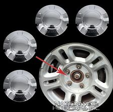 "4 New 98-03 Ford Expedition 16"" Chrome Wheel Center Hub Caps Lug Nut Rim Covers"