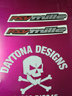 RSV MILLE RED SILVER BLACK PAIR FAIRING CUSTOM GRAPHICS DECALS STICKERS