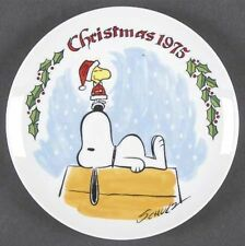 1975 Vintage Snoopy and Woodstock Christmas Collectors Plate IN ORIGINAL BOX