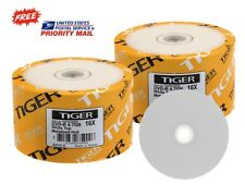 SPECIAL! 100-PK Tiger 16X White Top DVD-R Blank Disc FREE EXPEDITED SHIPPING