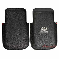 Genuine Leather Pocket Case Pouch Sleeve For Blackberry Q5 HDW-55522-001 Black
