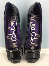 SAM EDELMAN black patent leather kitten heel Excellent Career Cocktail 6