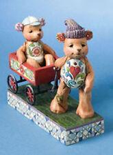 Jim Shore Bears & Wagon ~ Pull Me Now Figurine 4009601