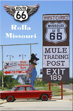 Route 66 Fridge Magnet Mule Trading Post in Rolla, Missouri on Route 66
