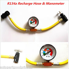 R134A 1/2 Car AC Air Conditioning Refrigerant Hose Air Hose Can Tap + Manometer