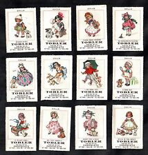Dolls Rare Tobler Stamp Card Set 1922 Vintage Toys Antique Dog Teddy Bear