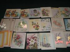 23 Vtg Lot 40s Greeting Cards Easter Blessings Novelty Florals Crafts Unused bdh