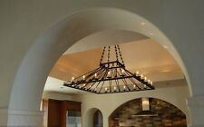 Oversize Large 5' Ft Square Chandelier wrought iron custom spectacular