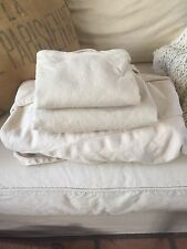Pottery Barn Comfort Grand Roll Arm Chair Slipcover Cotton/Linen Camel Knife