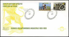 Netherlands 1993 Cycle And Motor Industry FDC First Day Cover #C28014