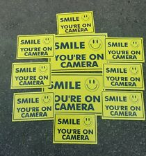 VIDEO SURVEILLANCE Security Decal  Warning Sticker (smile you're )set of10 pcs .