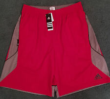 NWT Mens Adidas XL Red/Gray/Black Fastbreak Wave Basketball Shorts XL