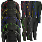 mens compression tight shirts and tights pants set skin under baselayer XS~2XL