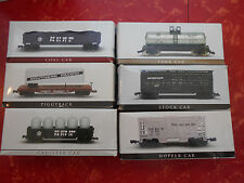 Lot of 6 Southern Pacific, Rio Grande N Scale Train Cars High Speed Metal