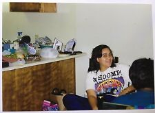 Vintage PHOTO Of A Girl Wearing A Whoomp There It Is T-Shirt By The Kitchen