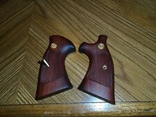 Target Wood Grips & Screw for S&W K Frame Square Butt Revolver (Very Nice)