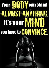 Sexy Girl Bodybuilding Fitness Motivational Gym Poster 34x24 B16