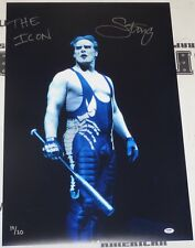 Sting Signed WWE 20x30 Photo PSA/DNA COA Picture The Icon Autograph WCW TNA Bat