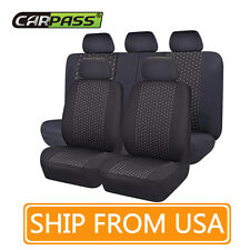 Universal Car Seat Cover Interior Accessories 11pcs Black&gray car seat covers