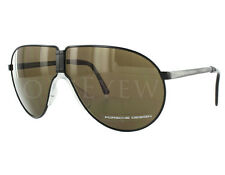 NEW Porsche Design P8480 C 66mm Black Green Sunglasses