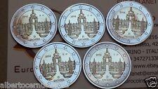 5 x 2 euro 2016 ADFGJ Germania Zwinger Dresda Dresden Deutschland Allemagne