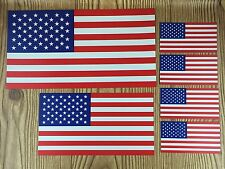American Flag Magnets ~ Set of 6 Magnets 3 Sizes Patriotic USA Car Fridge Decals