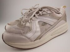 EASY SPIRIT Antigravity Go Happy Pearl Beige Lace Up Walking Shoes Sz 7 M