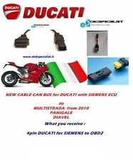 DUCATI Diagnostic tool obd2 service 4 way pin Siemens Multistrada CAN Mitsubishi