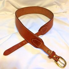 VTG Levi's Strauss Leather Oil Tan Cowhide Handcrafted Belt Size MEDIUM USA