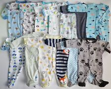 BABY BOY LOT 13 FOOTED ROMPER ONE PIECE OUTFIT WINTER BODYSUIT NB 0 - 3 3 Months