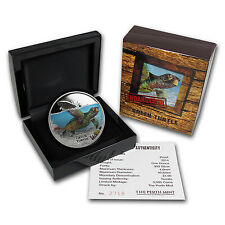 2014 Tuvalu 1 oz Proof Silver Endangered and Extinct Sea Turtle Coin- SKU #78759