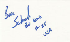 1980 USA Buzz Schneider OLYMPIC GOLD HOCKEY SIGNED 3x5 CARD Miracle on Ice RARE