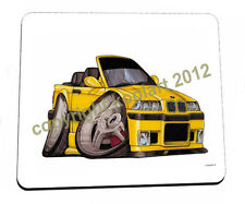 KOOLART - YELLOW BMW M3 CONVERTABLE- HEAVYWEIGHT QUALITY MOUSE MAT / PAD  0007