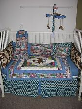 WESTERN RODEO COWBOY LOG CABIN CRIB NURSERY BEDDING SET & CRIB MOBILE