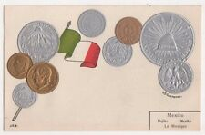 Mexico Embossed Coin Postcard, B605