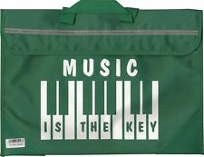 Piano Keyboard Music School Bag Case Holdall GREEN Musician Gift