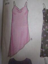 New Look 6815 ASYMMETRICAL SLIP DRESS Sewing Pattern Women UNCUT Sz 6-16 NEW