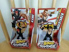 WWE Rumblers Rampage Kane & Undertaker NEW Mattel VHTF action figures WWF