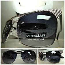CLASSIC VINTAGE 70's RETRO Style PARTY SUN GLASSES SHADES Gunmetal & Black Frame