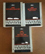 1995 Ford ECONOLINE, F & B 700-800-900, ESCORT/TRACER Factory Service Manuals