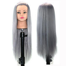 Long Hair Hairdressing Practice Training Head Dummy Model Salon Mannequin Doll
