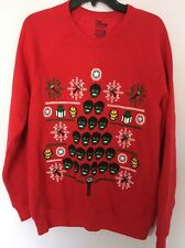Marvel Disney Store Avengers Ugly  Red Men Christmas Sweater Sweatshirt Medium