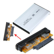 Pouch+Aluminum USB 2.0 SATA 2.5 Hard Disk Case HDD External Enclosure Box Laptop