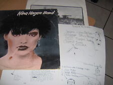 "LP 12""  NINA HAGEN BAND HOLLAND 1978 VG/EX+ INNER SLEEVE E SHEET TESTI"