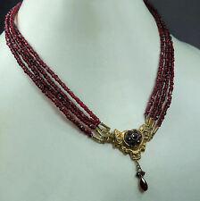 Wunderschönes antikes Granat - Collier * Vierreihig * Biedermeier um 1820