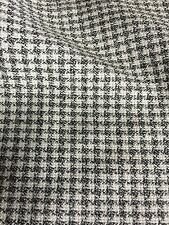 "Vintage Fabric Black White Houndstooth Plaid 58"" Wide Sold By The Yard"