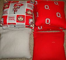 SET OF 8 OHIO STATE UNIVERSITY OSU CORNHOLE BAGS