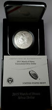 2015-P MARCH OF DIMES SILVER DOLLAR COMMEMORATIVE UNCIRCULATED  DM2 OGP and COA