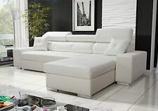 Sevilla Corner Sofa Bed ,Left or Right Hand,Fabric or Faux Leather
