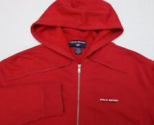 Vintage Polo Sport Ralph Lauren Zip Hoodie Red Medium / Large Fit